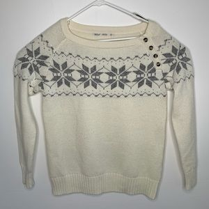 Woolrich Medium Crew Neck Pull Over White Sweater